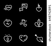 icons for theme heart  love ... | Shutterstock .eps vector #648742891