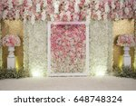 wedding backdrop with flower... | Shutterstock . vector #648748324