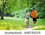 fitness training for couple in... | Shutterstock . vector #648750319