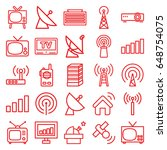 antenna icons set. set of 25... | Shutterstock .eps vector #648754075
