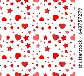 seamless pattern with heart  ...   Shutterstock .eps vector #648757279