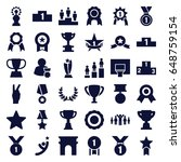 victory icons set. set of 36... | Shutterstock .eps vector #648759154
