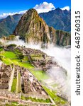Small photo of Machu Picchu, Peru - Ruins of Inca Empire city, in Cusco region, amazing place of South America.