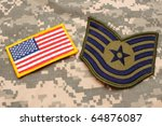 Us Flag Patch And Air Force...