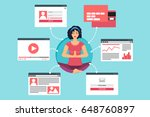web life of woman in meditation ...