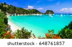 gorgeous beaches of ionian... | Shutterstock . vector #648761857