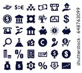 investment icons set. set of 36 ... | Shutterstock .eps vector #648763099