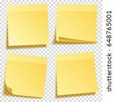 sticky note with shadow... | Shutterstock .eps vector #648765001