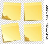 sticky note with shadow... | Shutterstock .eps vector #648765055
