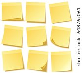 sticky note with shadow... | Shutterstock .eps vector #648765061