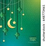 selamat hari raya aidilfitri... | Shutterstock .eps vector #648773461