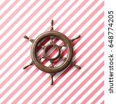 3d rendering of handwheel   Shutterstock . vector #648774205