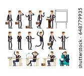 large vector set of businessman ...   Shutterstock .eps vector #648779935