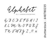 hand drawn vector alphabet.... | Shutterstock .eps vector #648780235