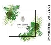 frame border design decorated... | Shutterstock .eps vector #648781735