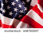 grunge american flag background.... | Shutterstock . vector #648783007