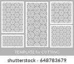 decorative panels set for laser ...   Shutterstock .eps vector #648783679