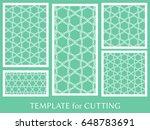 decorative panels set for laser ...   Shutterstock .eps vector #648783691