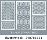 decorative panels set for laser ... | Shutterstock .eps vector #648788881