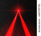 two abstract red lasers.... | Shutterstock .eps vector #648789781