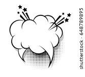 cloud empty white comic book...   Shutterstock .eps vector #648789895