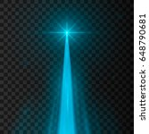 abstract blue laser beam.... | Shutterstock .eps vector #648790681
