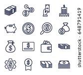 dollar icons set. set of 16...   Shutterstock .eps vector #648791419