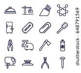 steel icons set. set of 16... | Shutterstock .eps vector #648791569
