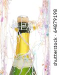 champagne bottle surrounded by... | Shutterstock . vector #64879198