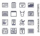 calendar icons set. set of 16...   Shutterstock .eps vector #648793891