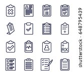 clipboard icons set. set of 16... | Shutterstock .eps vector #648795439