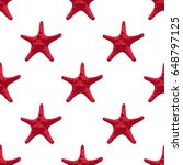 starfish vector seamless... | Shutterstock .eps vector #648797125