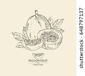 passion fruit  fruit  passion... | Shutterstock .eps vector #648797137