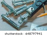 expansion anchors and... | Shutterstock . vector #648797941