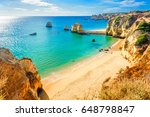 Beautiful sandy beach near Lagos in Ponta da Piedade, Algarve region, Portugal
