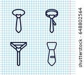 set of 4 dresscode outline...   Shutterstock .eps vector #648802564