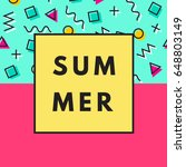 summer hipster background with... | Shutterstock .eps vector #648803149