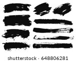large grunge elements set.... | Shutterstock .eps vector #648806281