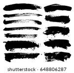 large grunge elements set.... | Shutterstock .eps vector #648806287