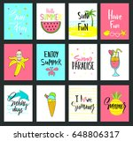 set of colorful cute hand drawn ... | Shutterstock .eps vector #648806317