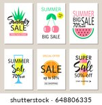 set of summer sale banner... | Shutterstock .eps vector #648806335