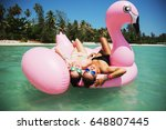 summer lifestyle portrait of... | Shutterstock . vector #648807445
