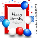 happy birthday greeting card.... | Shutterstock .eps vector #648813691