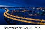 industrial area. sunset over... | Shutterstock . vector #648821935