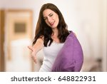 beautiful young girl with a... | Shutterstock . vector #648822931