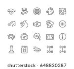 simple set of car features... | Shutterstock .eps vector #648830287