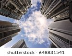 modern and tall buildings tower ... | Shutterstock . vector #648831541