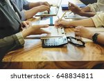 business people pointing to...   Shutterstock . vector #648834811