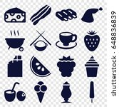 tasty icons set. set of 16... | Shutterstock .eps vector #648836839