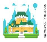 flat design frontenac chateau... | Shutterstock .eps vector #648837205
